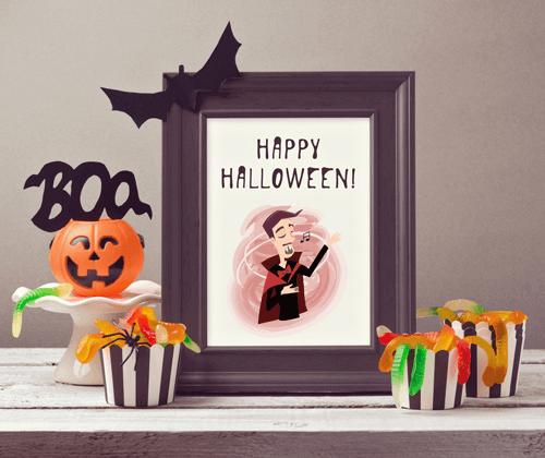 Halloween icon set preview
