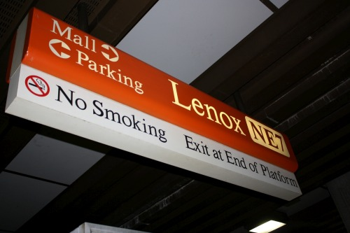 Wayfinding and Typographic Signs - train-station-sing