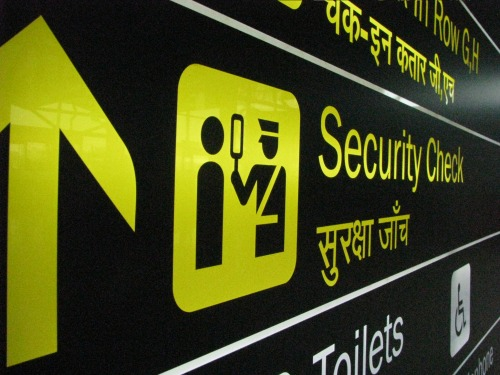 Wayfinding and Typographic Signs - airport-security-check