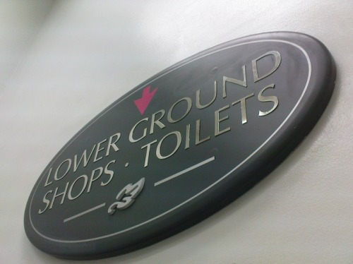 Wayfinding and Typographic Signs - podium-mall-signage