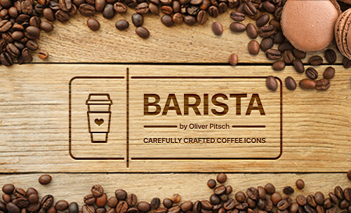 Freebie: Barista Coffee Icon Set (50 icons, EPS, PNG, SVG)