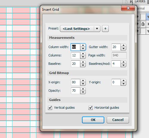 Insert Grid Panel