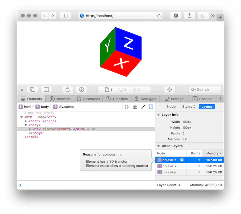 Safari with Web Inspector