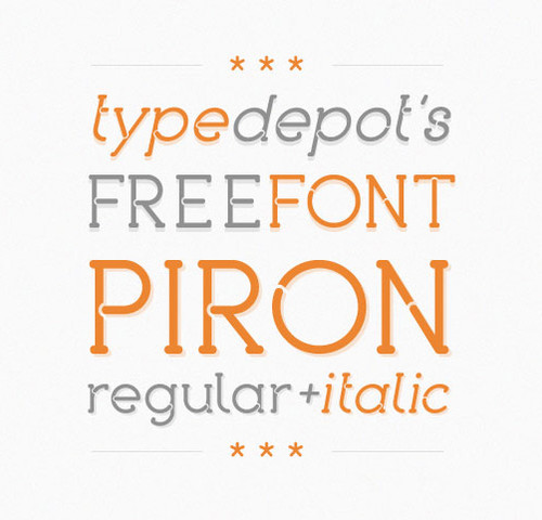 Beautiful Fonts - Piron Free Font