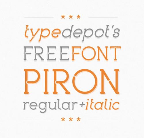 Beautiful Fonts - Piron Free Font