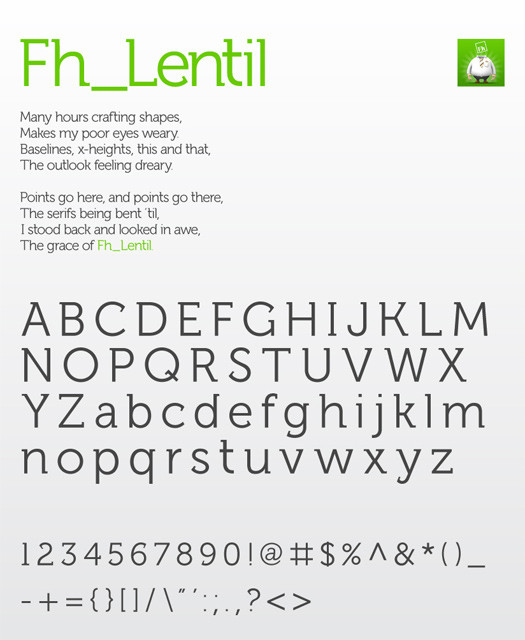 Beautiful Free Fonts - fh_lentil regular