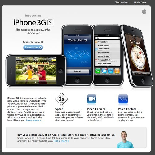 Apple newsletter about new iPhone 3GS