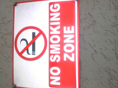 Wayfinding and Typographic Signs - no-smoking
