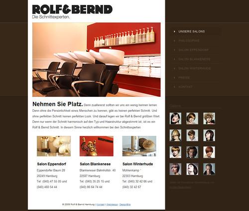 German Web Design - friseur hamburg - rolf & bernd
