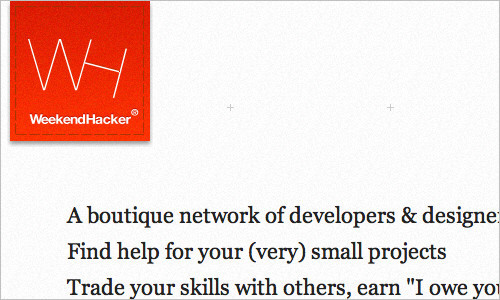 WeekendHacker: A Place for Small Collaborative Projects