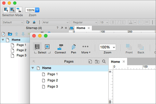 Axure 8 interface