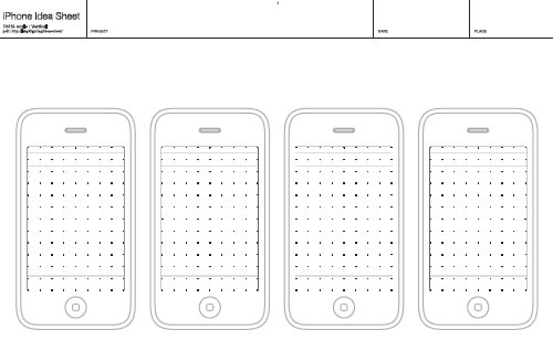 Sketch Template And Wireframe Printable Paper