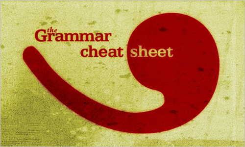 The Grammar Cheat Sheet