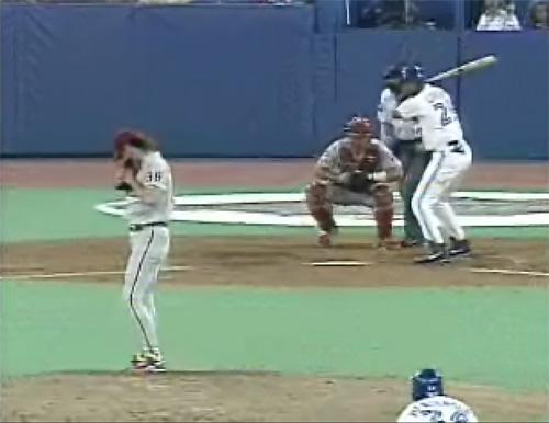 Screenshot from the 1993 World Series