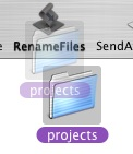 Rename Files screenshot on dropping