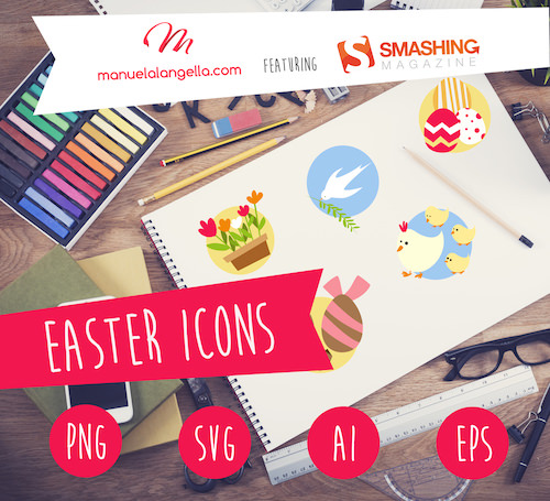 The icons look brilliant on brochures, flyers and Easter cards. Let your fantasy and creativity flow!