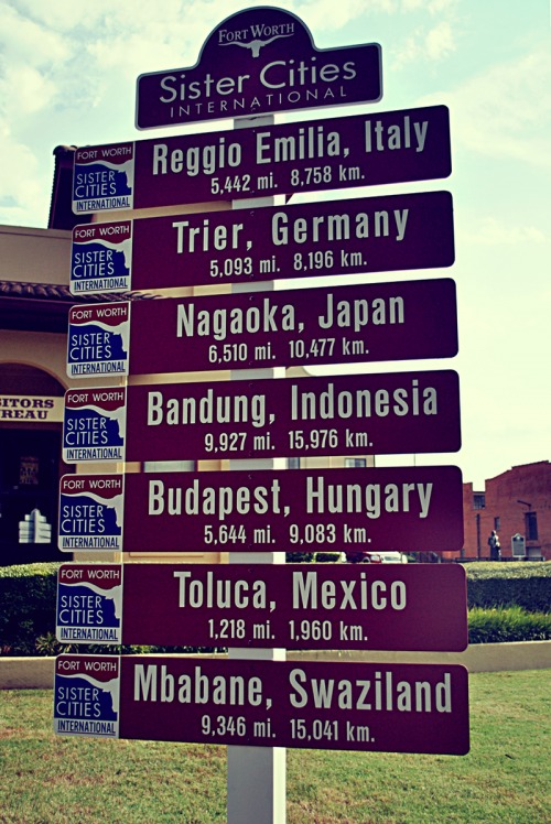 Wayfinding and Typographic Signs - sister-cities