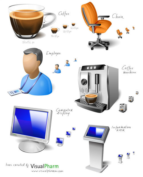 free download icon pack - Office Space Icon Set