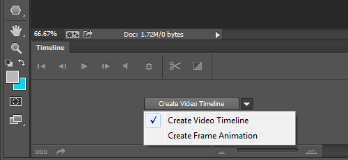 Photoshop Animation - It has two timelines for you to choose from.