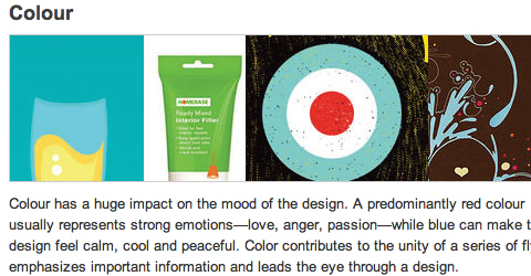 Showcase of Design Elements - Appropriate Color Contrast