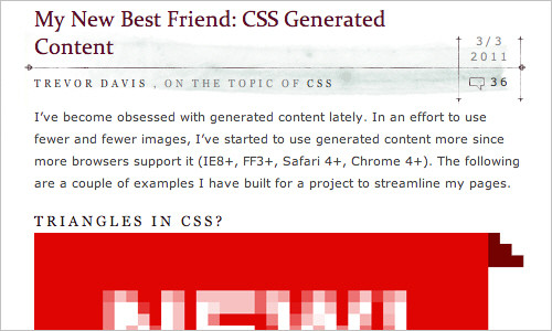 My New Best Friend: CSS Generated Content | Viget Inspire