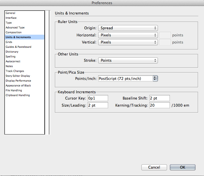 Change InDesign's application-level settings.
