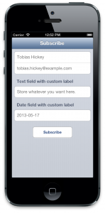 Add a subscription form to your mobile app
