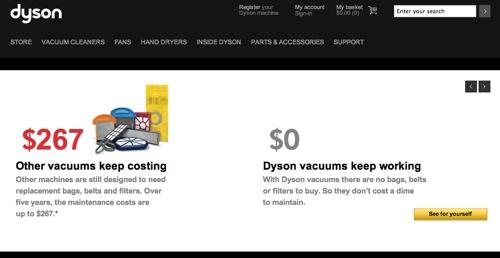 Dyson's website