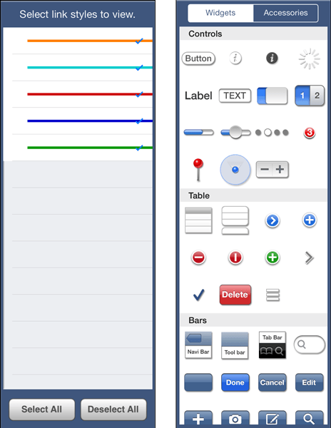 Variations of the same side panel grant the user control over screens and individual widgets.