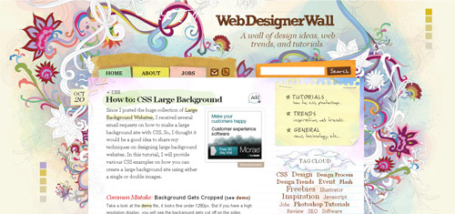 Large Backgrounds in Web Design