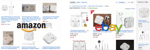 Amazon and eBay overwhelming product choice