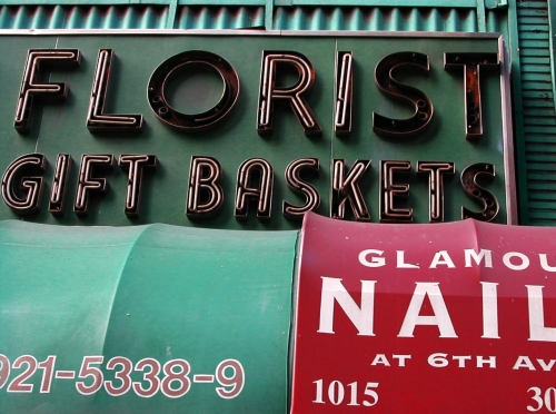 Wayfinding and Typographic Signs - florist-sign
