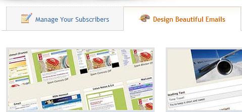 MailChimp module tabs screen shot.