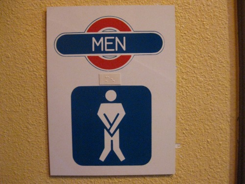 Wayfinding and Typographic Signs - mens-restroom-figure