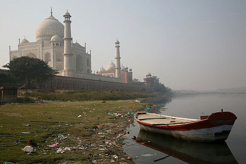 Taj Mahal, the other side. Agra