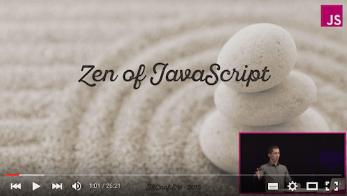Dmitry Baranovskiy – Zen Of JavaScript