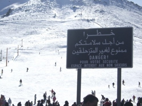Wayfinding and Typographic Signs - yes-you-can-ski-in-morocco