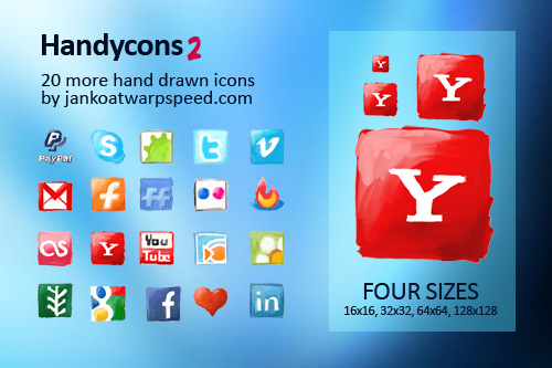Free Icons Round-Up - Handycons 2 - another free hand drawn icon set