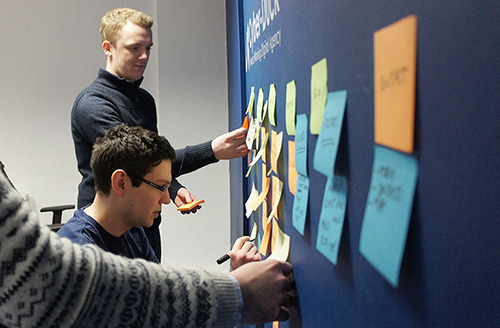 Our design team used card-sorting exercises to help organize our existing content for the new website
