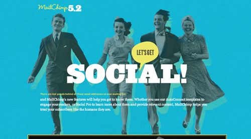 Mail Chimp Social Promotional Site