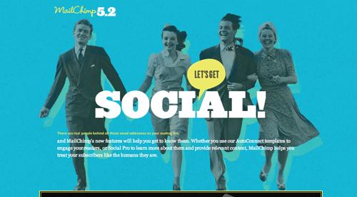 Mail Chimp Social Promotional Site