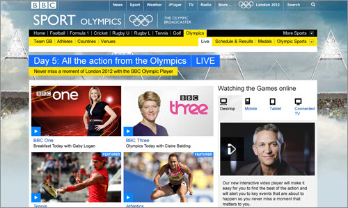 BBC Olympics: User Experience and Design