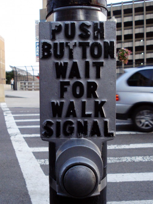 Wayfinding and Typographic Signs - push-button