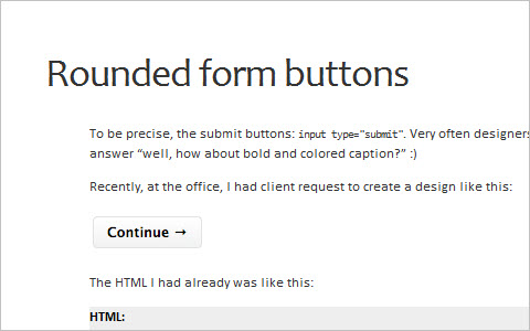 Rounded form buttons