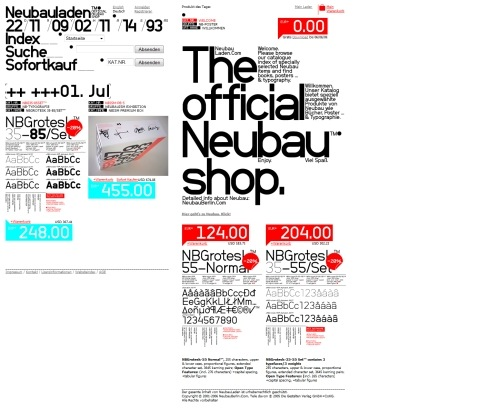 Neubauladen in Showcase of Web Design in Germany