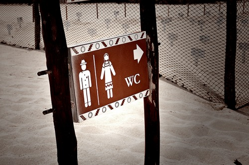 Wayfinding and Typographic Signs - yucatans-bathroom