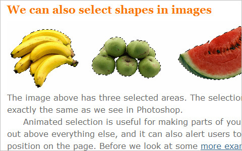 Animated Photoshop selection using CSS3