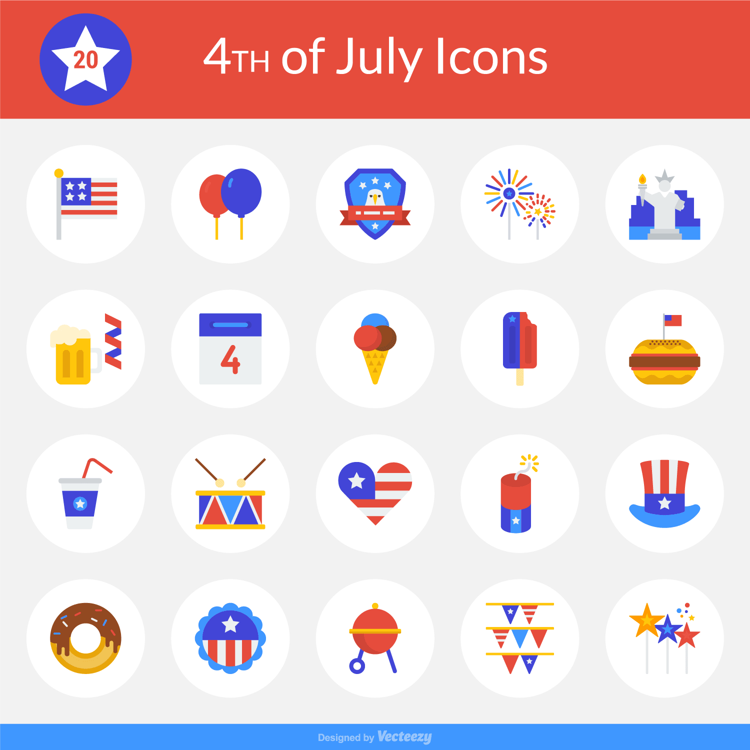 Free Icon Set Happy 4th Of July 20 Icons Png Eps Ai Svg