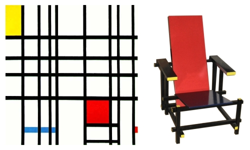 Left: Composition With Red, Yellow And Blue ...