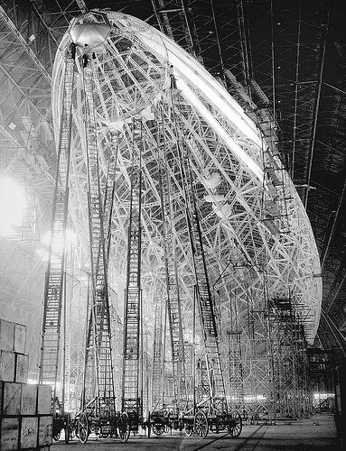 A Picture of the Airship USS Macon Being Constructed